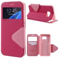 "Preklopna torbica ""Roar Fancy Diary"" za Samsung Galaxy S7 Edge, Pink barva"