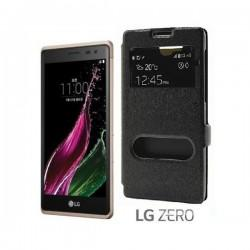 """Preklopna torbica """"window"""" za LG Zero, Črna barva"""