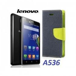 """Preklopna Torbica """"Fancy"""" za Lenovo A536, Modra barva"""