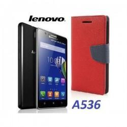 "Preklopna Torbica ""Fancy"" za Lenovo A536, Rdeča barva"