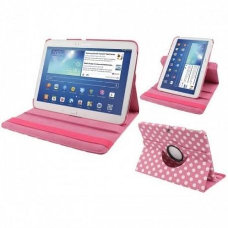 Torbica za Samsung Galaxy TAB 3 10.1 (P5200,P5210) Vrtljiva 360 Book Cover , Pink barva DOT