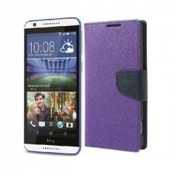 "Preklopna Torbica ""Fancy"" za HTC Desire 820, Vijola barva"