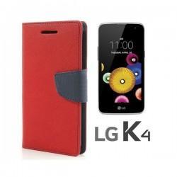 "Preklopna Torbica ""Fancy"" za LG K4, Rdeča barva"