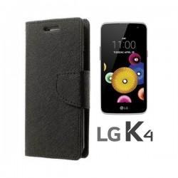 """Preklopna Torbica """"Fancy"""" za LG K4, Črna barva"""