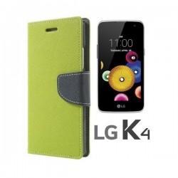 """Preklopna Torbica """"Fancy"""" za LG K4, Zelena barva"""