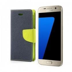 "Preklopna Torbica ""Fancy"" za Samsung Galaxy S7, Modra barva"