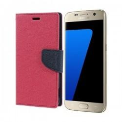 "Preklopna Torbica ""Fancy"" za Samsung Galaxy S7, Pink barva"