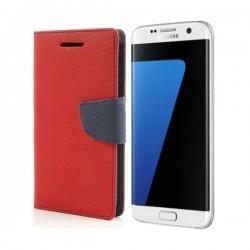 "Preklopna Torbica ""Fancy"" za Samsung Galaxy S7 Edge, Rdeča barva"