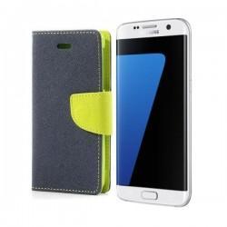"Preklopna Torbica ""Fancy"" za Samsung Galaxy S7 Edge, Modra barva"