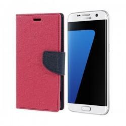 "Preklopna Torbica ""Fancy"" za Samsung Galaxy S7 Edge, Pink barva"