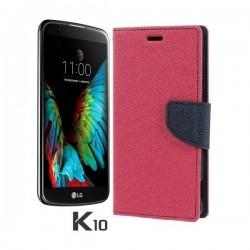 "Preklopna Torbica ""Fancy"" za LG K10, Pink barva"