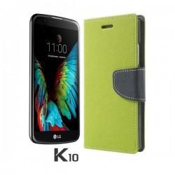 """Preklopna Torbica """"Fancy"""" za LG K10, Zelena barva"""