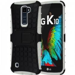 Etui Dual Armor za LG K10, Bela barva