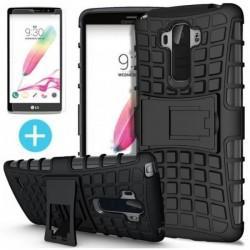 Etui Dual Armor za LG G4 Stylus, Črna barva +zaščitno steklo zaslona
