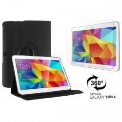 Torbica za Samsung Galaxy TAB 4 10.1 Vrtljiva 360+Folija ekrana , Črna barva