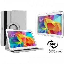 Torbica za Samsung Galaxy TAB 4 10.1 Vrtljiva 360+Folija ekrana , Bela barva