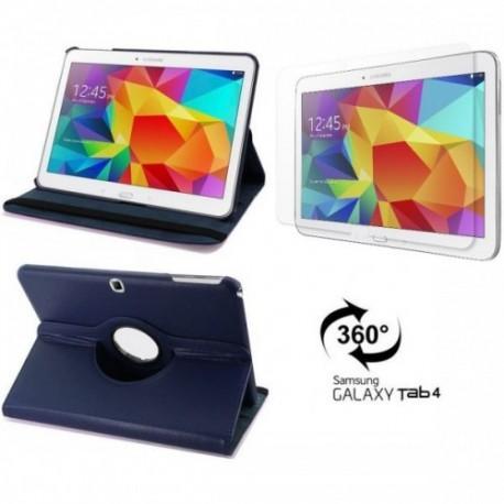 Torbica za Samsung Galaxy TAB 4 10.1 Vrtljiva 360+Folija ekrana , Modra barva