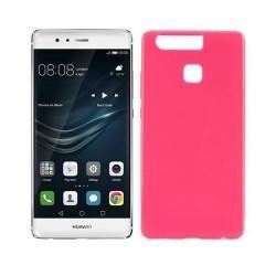 Silikon etui za Huawei P9, 0,5mm, pink barva
