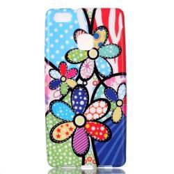 "Silikonski etui ""Flowers"" za Huawei P9 Lite"