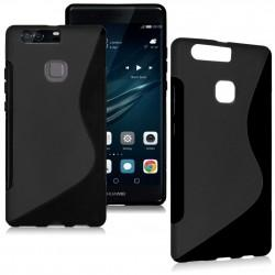 Silikon etui S za Huawei P9, Črna barva