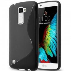 Silikon etui S za LG K10, Črna barva