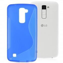 Silikon etui S za LG K10, Modra barva