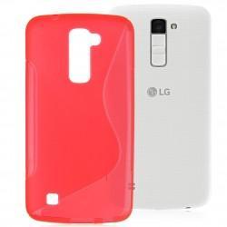 Silikon etui S za LG K10, Rdeča barva