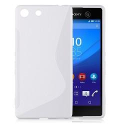 Silikon etui S za Sony Xperia M5, Bela barva