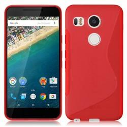 Silikon etui S za LG Nexus 5X, Rdeča barva