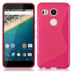 Silikon etui S za LG Nexus 5X, Pink barva