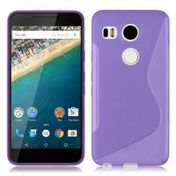 Silikon etui S za LG Nexus 5X, Vijolična barva