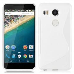 Silikon etui S za LG Nexus 5X, Bela barva