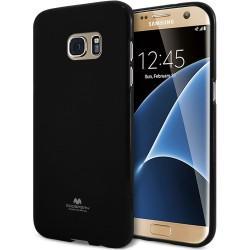 "Silikonski etui ""Goospery"" za Samsung Galaxy S7 Edge, Črna barva"