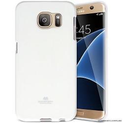 "Silikonski etui ""Goospery"" za Samsung Galaxy S7 Edge, Bela barva"