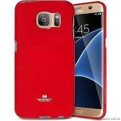 "Silikonski etui ""Goospery"" za Samsung Galaxy S7 Edge, Rdeča barva"