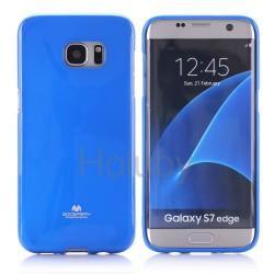 "Silikonski etui ""Goospery"" za Samsung Galaxy S7 Edge, Modra barva"