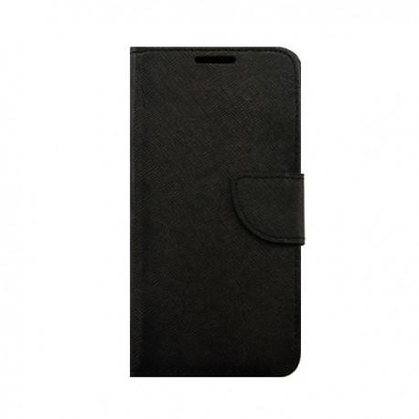 "Preklopna Torbica ""Fancy"" za Huawei P9 Lite, Črna barva"