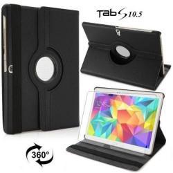 Torbica za Samsung Galaxy TAB S 10.5 Vrtljiva 360+Folija ekrana Črna barva