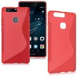 Silikon etui S za Huawei P9, rdeča barva