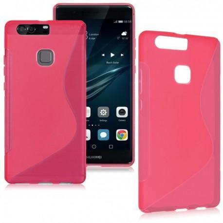 Silikon etui S za Huawei P9, pink barva