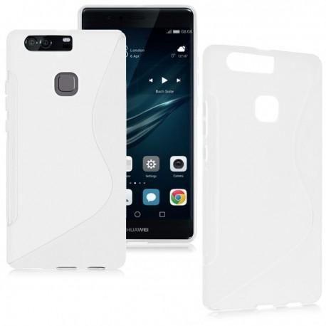 Silikon etui S za Huawei P9, bela barva