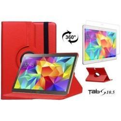 Torbica za Samsung Galaxy TAB S 10.5 Vrtljiva 360+Folija ekrana Rdeča barva