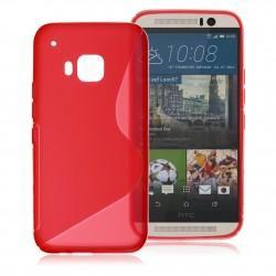 Silikon etui S za HTC One M9, Rdeča barva