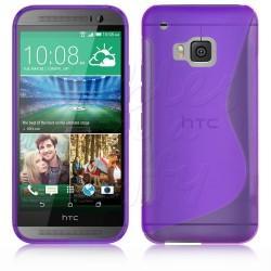 Silikon etui S za HTC One M9, Vijolična barva