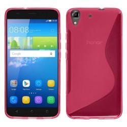 Silikon etui S za Huawei Y6, Pink barva
