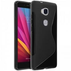 Silikon etui S za Huawei Honor 5X, Črna barva
