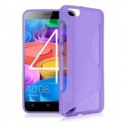 Silikon etui S za Huawei Honor 4X, Vijolična barva