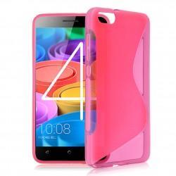Silikon etui S za Huawei Honor 4X, Pink barva