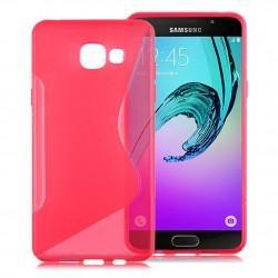 Silikon etui S za Samsung Galaxy A5 2016, Pink barva