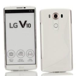 Silikon etui S za LG V10, Transparent barva